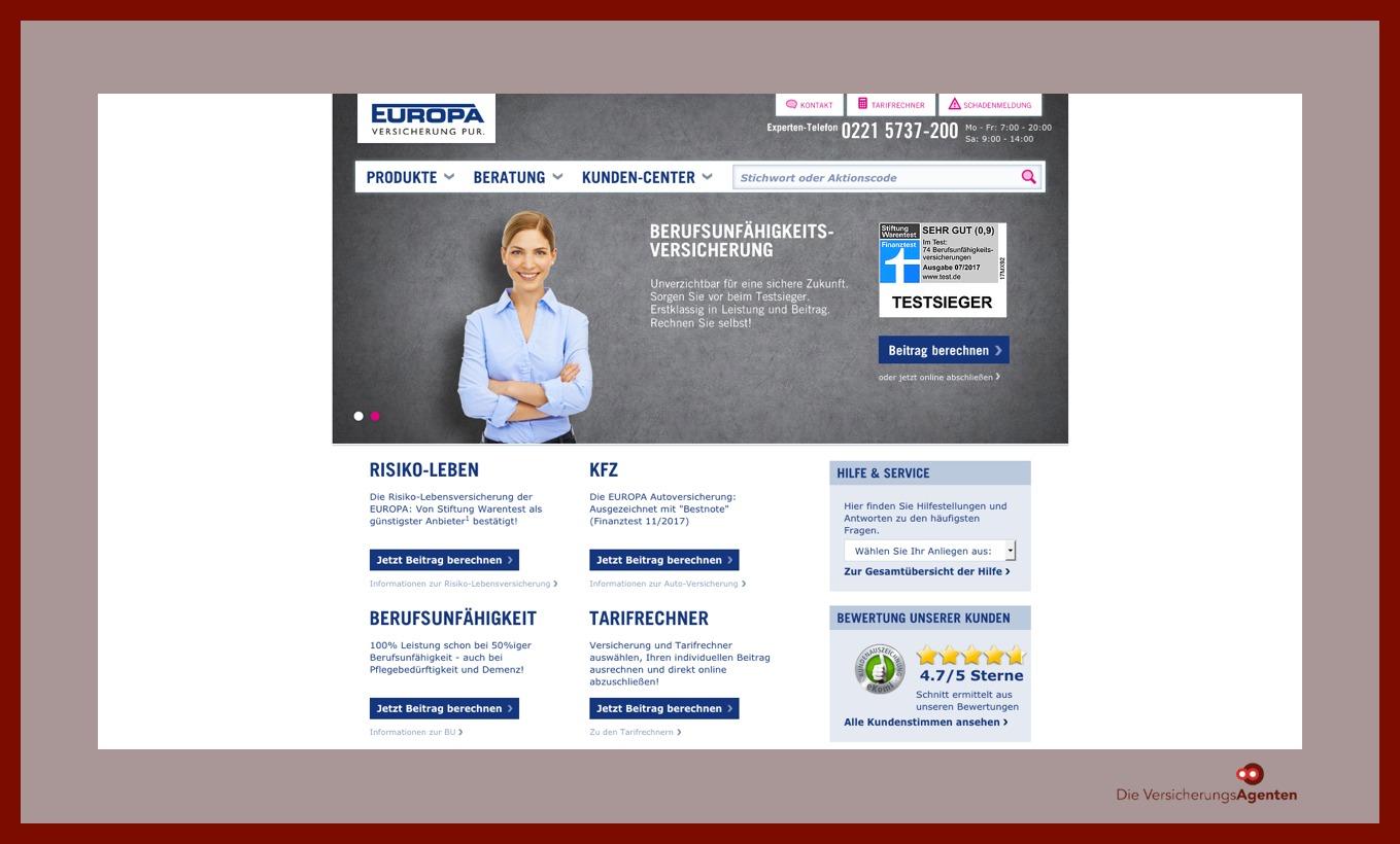 Europa Versicherungen Versicherungsagenten Berlin